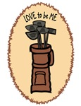 GOLF BAG FOR GIRLS - LOVE TO BE ME