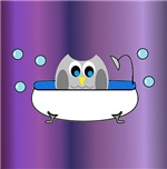 Owl In Tub (Purple)