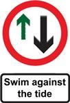 Swim against