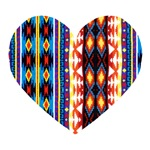 Aztec Print Heart