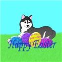 Black Siberian Husky Easter