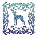 Greyhound Blue Ornamental Lattice