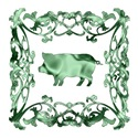Pig Green Ornamental Lattice