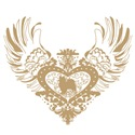 Papillon Tan Winged Heart