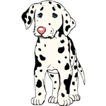 Dalmatian Puppy Cartoon T-Shirt