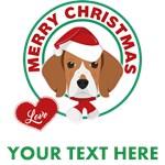 Personalized Beagle Christmas T-Shirts