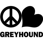 Peace Love Greyhound