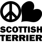 Scottish Terrier T-Shirt - Peace Love