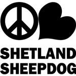 Peace Love Shetland Sheepdog T-Shirt