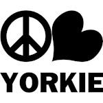 Yorkie T-Shirt - Peace Love