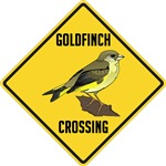 Goldfinch Crossing Sign