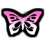 Glowing Butterfly-Pink