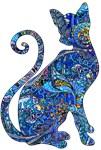 Blue Paisley Cat