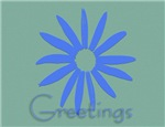 Greetings Periwinkle Note Cards