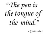 The pen is....