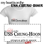 My Heart is on the USS Chung-Hoon T-shirts and Gif