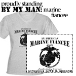An American Marine Fiancee Tees and Gifts