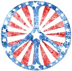 Retro American Peace Sign ~ Retro American Peace Sign.  Cool faded look!