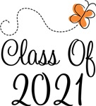 Class of 2021 Butterfly Graduate Gifts & Tees