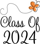 Class of 2024 Butterfly Graduate Gifts & Tees