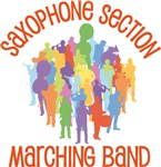 Saxophone Marching Band Collage Tee shirts