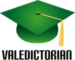 Green Grad Hat Valedictorian T-shirts And