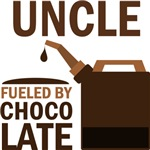 Uncle Fueled By Chocolate T-shirts