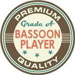 Bassoon Player Music T-shirts (Premium Quali