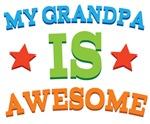 My Grandpa Is Awesome Kids Tshirts
