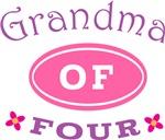 Grandma Of Four T-shirt Gifts