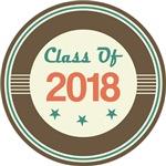 Vintage Class of 2018 School T-shirts
