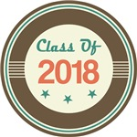 Vintage Class of 2018 School T-shirts