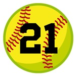 Personalized Softball Player Number T-shirts