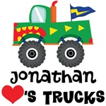 Personalized Kids Truck Lover T-shirts