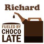 Personalized Fueled By Chocolate Job T-shirts