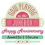 Happy Anniversary Jukebox Personalized T-shirts