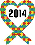 2014 Autism Puzzle Heart Ribbon