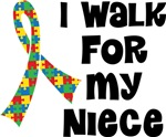 Autism I Walk For My Niece T-shirts