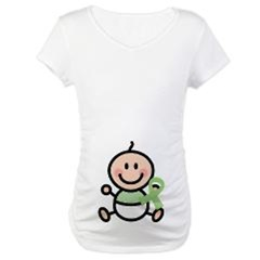 Mint Green Awareness Maternity T-shirts