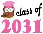 Class of 2031 Graduation Tee Shirts (owl)