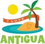 I Love Antigua T-shirts