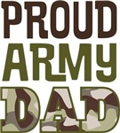 Proud Army Dad Fathers Day Tee Shirts