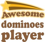 Awesome Dominoes Player T-shirts