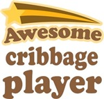 Awesome Cribbage Player T-shirts