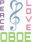 Oboe Music (Peace Love) T-shirts