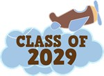 Class Of 2029 Boys Airplane T-shirts