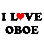 I Love Oboe T-shirts and Gifts