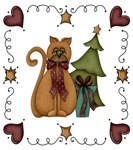 Country Christmas Kitty Cat Gifts