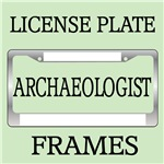 ARCHAEOLOGIST LICENSE PLATE FRAMES