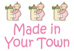Pink Made In Hometown Baby Girl Gifts / T-shirts